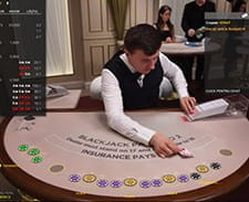 Blackjack live la 888 Casino
