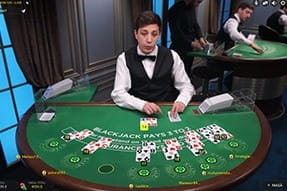 Blackjack live cu dealer real