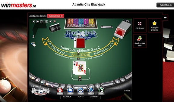 Joaca online Blackjack Atlantic City la Winmasters casino