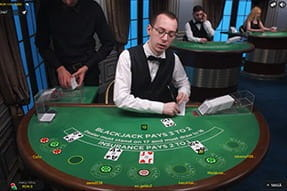 Blackjack de la Evolution Gaming la Winmasters Casino