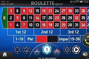 Joacă Ruleta Touch mobile casino
