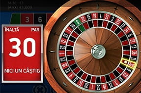 Ruleta europeană in Unibet mobile casino