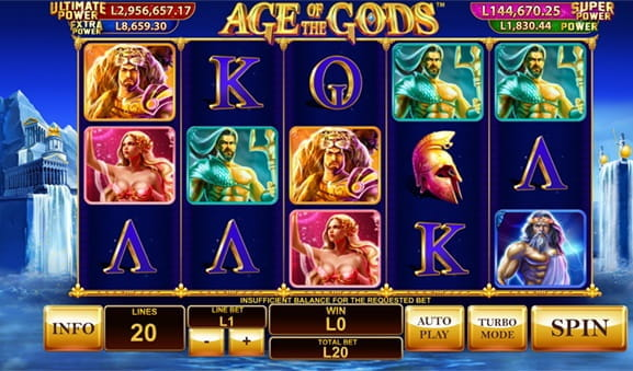 Age of the Gods Slot la Fortuna Casino