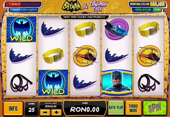 Batman and Catwoman cash slot