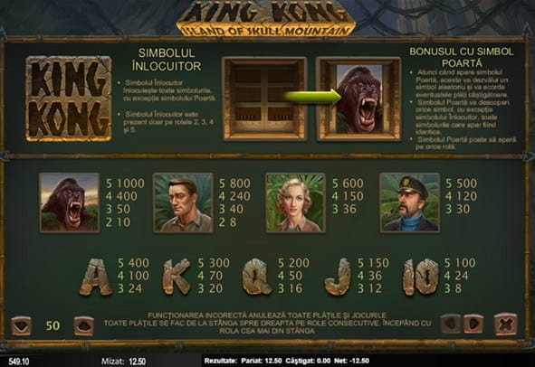 Jucați King Kong slot, creat de Nyx Gaming
