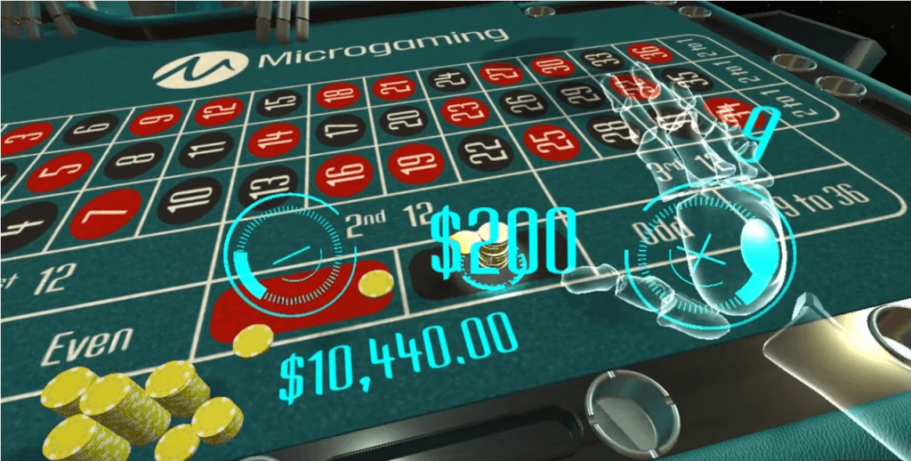 Ruleta VR de la Microgaming