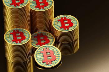 Imagine cu moneda Bitcoin